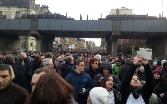 Charlie Hebdo - 2 marche silencieuse 20150111